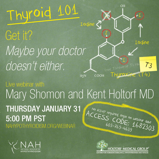Thyroid 101 with Mary Shomon and Kent Holtorf MD